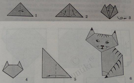 Детское оригами из бумаги