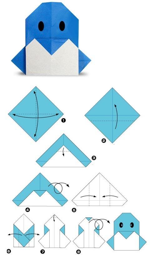 Оригами для начинающих схема